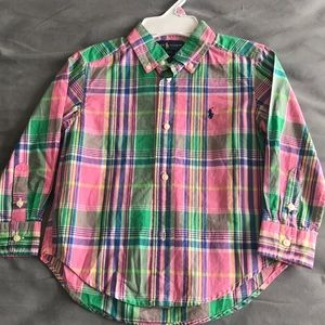 Boys Ralph Lauren Button down Shirt Size (3t)